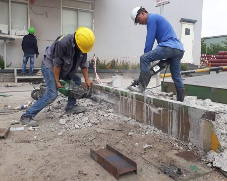 Constructing and completing concrete cutting drilling in Ho Nai